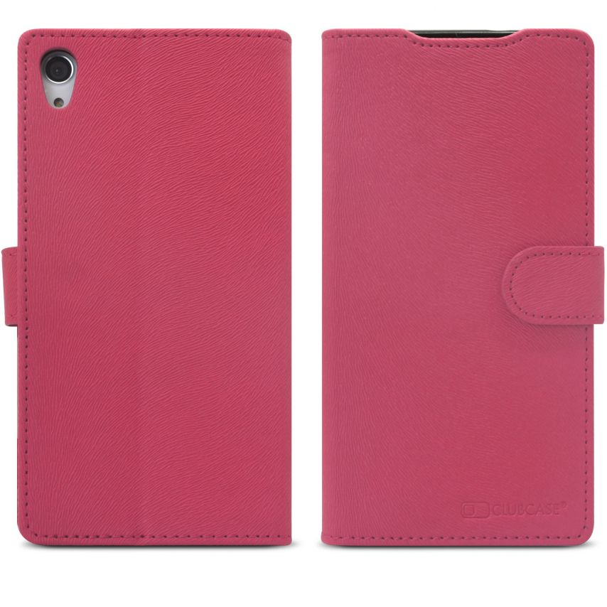 Zoom sur Smart Cover XPeria Z2 Folio Skin Texture Rose