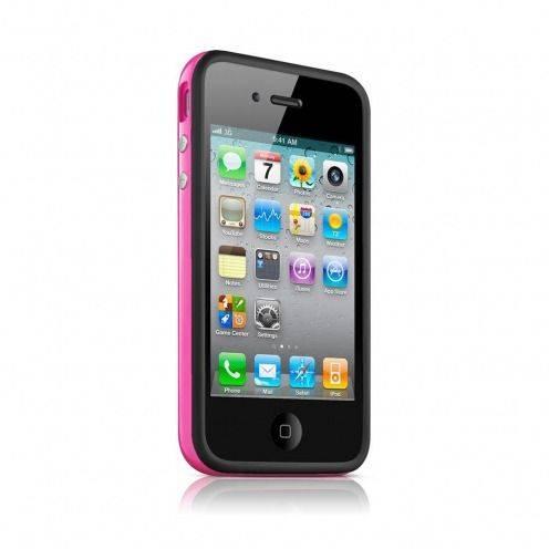 Coque Bumper HQ Noir / Rose Pour iPhone 4S / 4