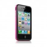 Vue portée de Coque Bumper HQ Noir / Rose Pour iPhone 4S / 4