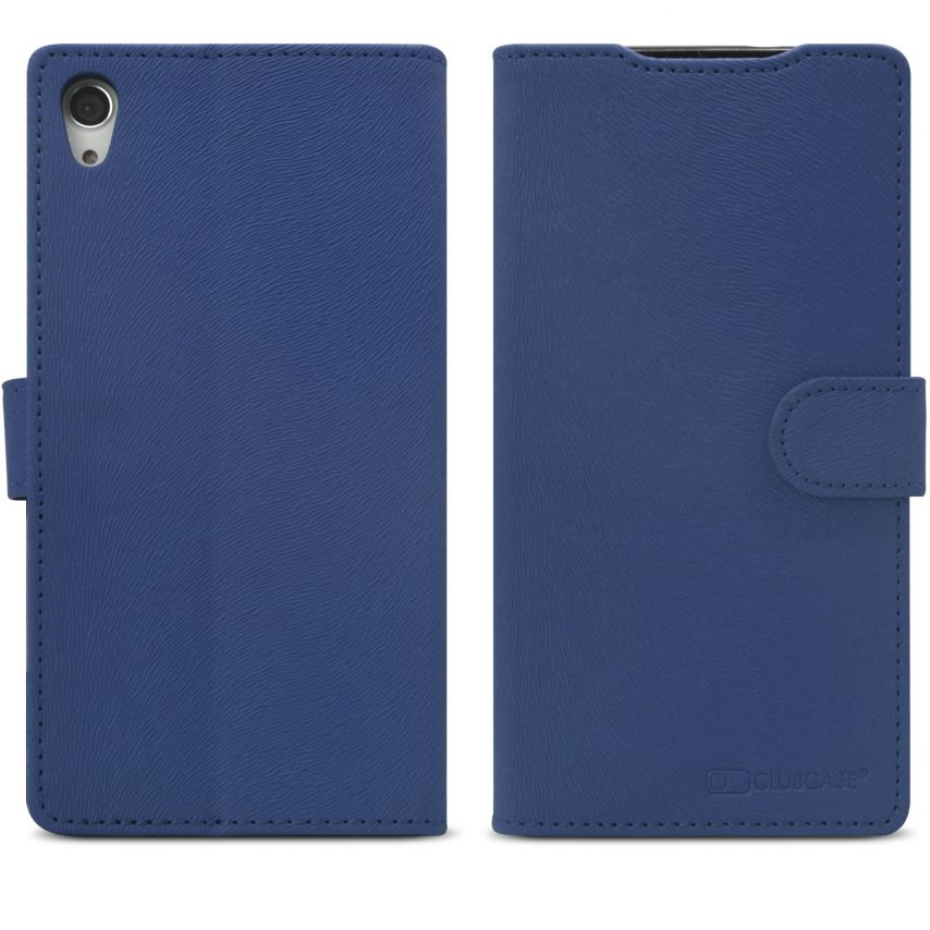 Zoom sur Smart Cover XPeria Z2 Folio Skin Texture Bleue