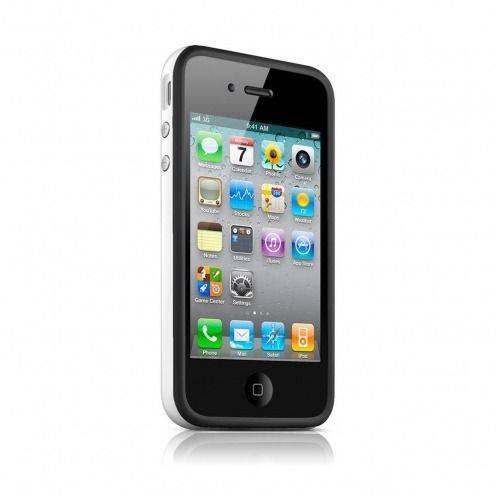 Coque Bumper HQ Noir / Blanc Pour iPhone 4S / 4