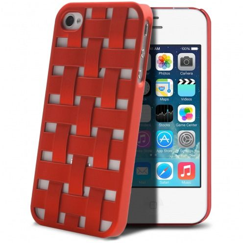 Visuel unique de Coque iPhone 4/4S X-Doria Engage Form Tressé Rouge