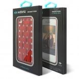 Vue complémentaire de Coque iPhone 4/4S X-Doria Engage Form Tressé Rouge