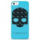 Vue complémentaire de Coque iPhone 5/5S Hydrogen LV Skull Bleue Phosphorescente