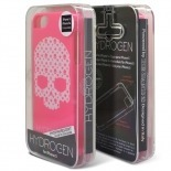 Photo réelle de Coque iPhone 5/5S Hydrogen LV Skull Rose Phosphorescente