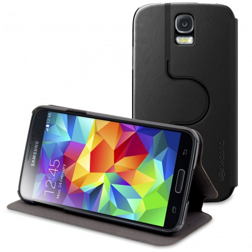Smart Dash Folio Spin X-Doria® Rotative Noire pour Galaxy S5