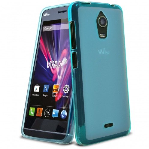 Coque Wiko Wax Frozen Ice Extra Fine Bleue
