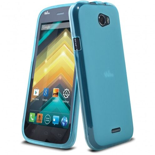 Coque Wiko Barry Frozen Ice Extra Fine Bleue
