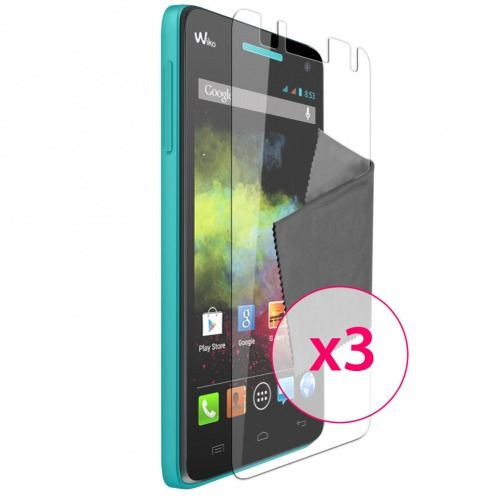 Films de protection Wiko Rainbow Clubcase ® Clear HD Lot de 3