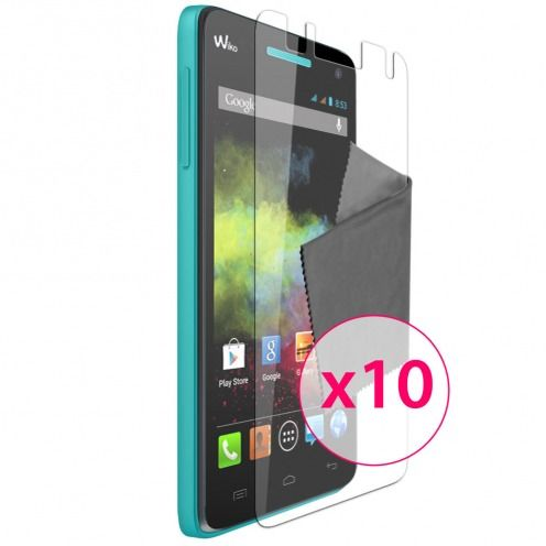 Zoom sur Films de protection Wiko Rainbow Clubcase ® Clear HD Lot de 10