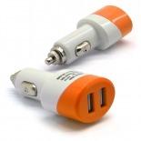 Visuel supplémentaire de Chargeur voiture / Allume cigare Double USB 2.1A + 1A Colors Orange