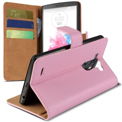 Housse Folio Stand LG G3 Cuir Eco Executive Rose