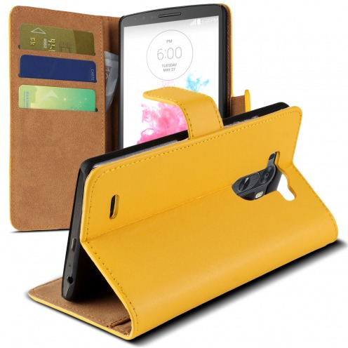Visuel unique de Housse Folio Stand LG G3 Cuir Eco Executive Jaune