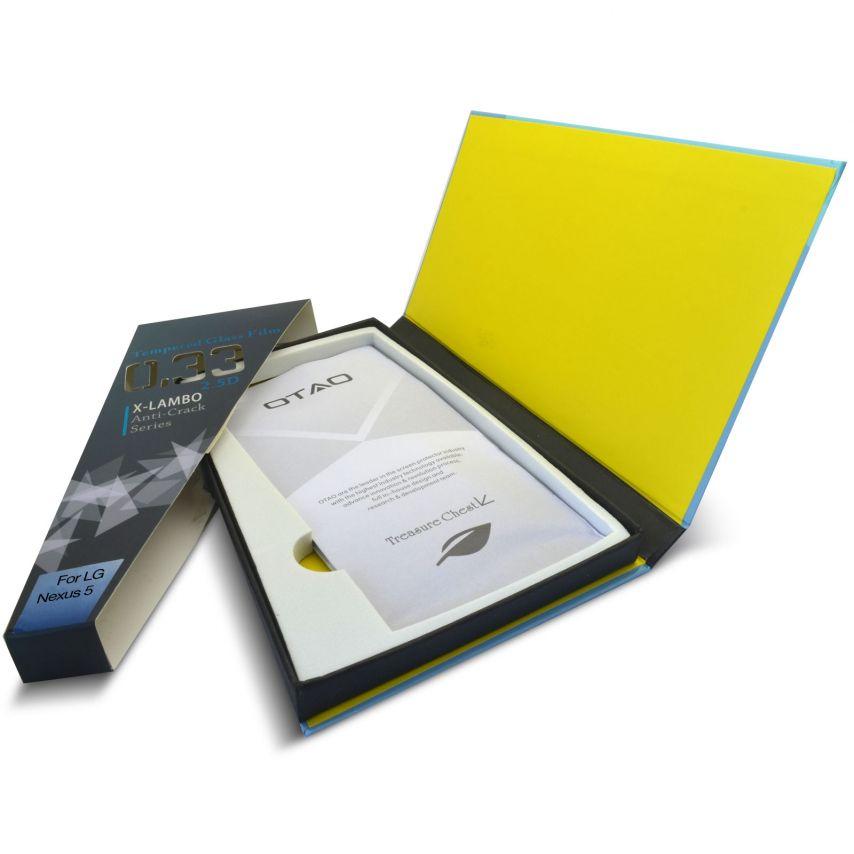 Vue complémentaire de Protection d'écran Verre trempé LG Nexus 5 OTAO Premium 9H X-Lambo 0.33 2.5D