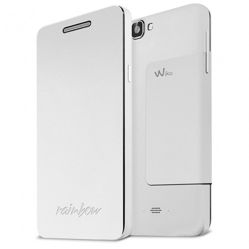 Smart Folio Stand Wiko® Officiel Back Cover Blanc pour Wiko Rainbow