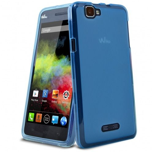 Coque Wiko Rainbow Frozen Ice Extra Fine Bleu Outremer