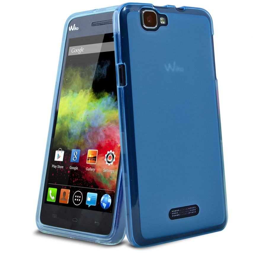 Zoom sur Coque Wiko Rainbow Frozen Ice Extra Fine Bleu Outremer