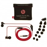 Vue portée de Ecouteurs / Kit Piéton In Ear Beats Audio® ibeats By Dre Noir/Argent/Rouge