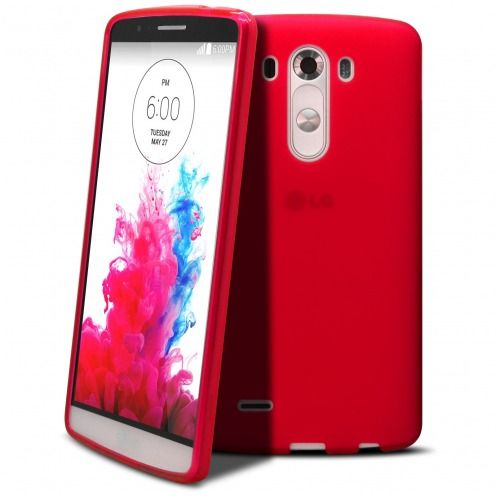 Coque LG G3 Frozen Ice Extra Fine Rouge