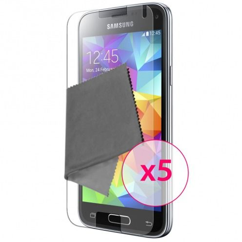Zoom sur Films de protection Samsung Galaxy S5 Mini Clubcase ® Clear HD Lot de 5