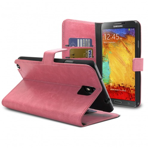 Smart Cover Samsung Galaxy Note 3 Neo / Lite Cuirette Marbrée Rose