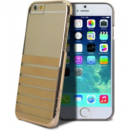 Vue complémentaire de Coque iPhone 6 X-Doria® Engage Plus Crystal Chrome Or