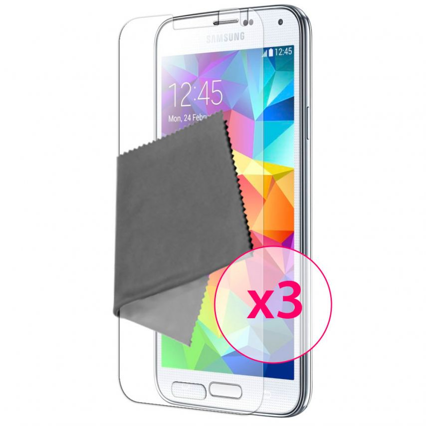 Zoom sur Films de protection Anti-Reflet Galaxy S5 Clubcase ® Lot de 3