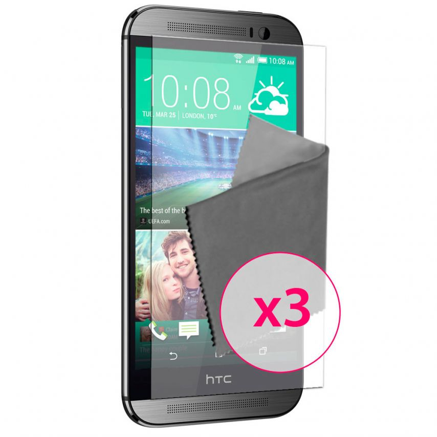 Zoom sur Films de protection Anti-Reflet HTC One M8 Clubcase ® Lot de 3