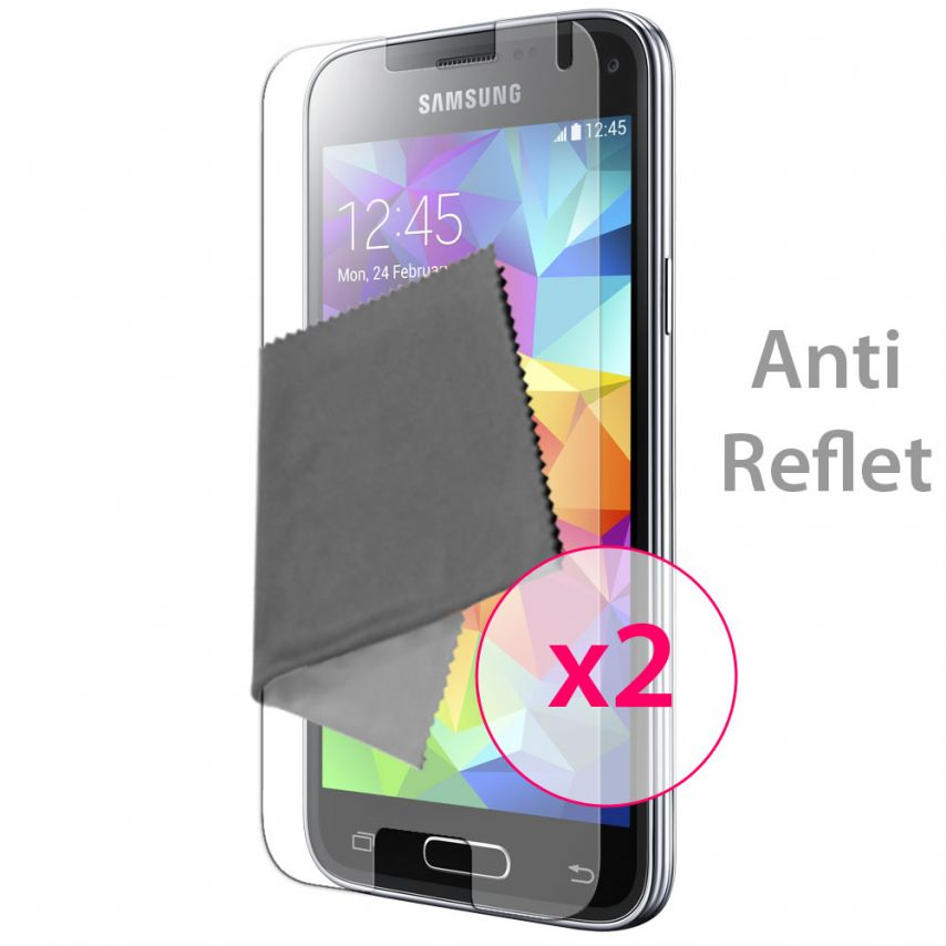 Zoom sur Films de protection Anti-Reflet Galaxy S5 Mini Clubcase ® Lot de 2