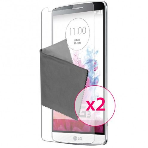 Films de protection anti traces de doigts LG G3 Clubcase ® Lot de 2