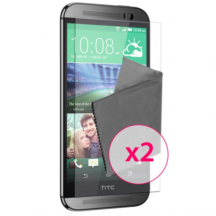 Films de protection anti traces de doigts HTC One M8 Clubcase ® Lot de 2
