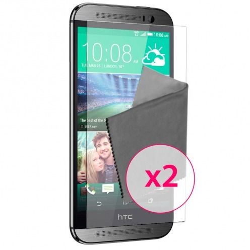 Zoom sur Films de protection Anti-Reflet HTC One M8 Clubcase ® Lot de 2