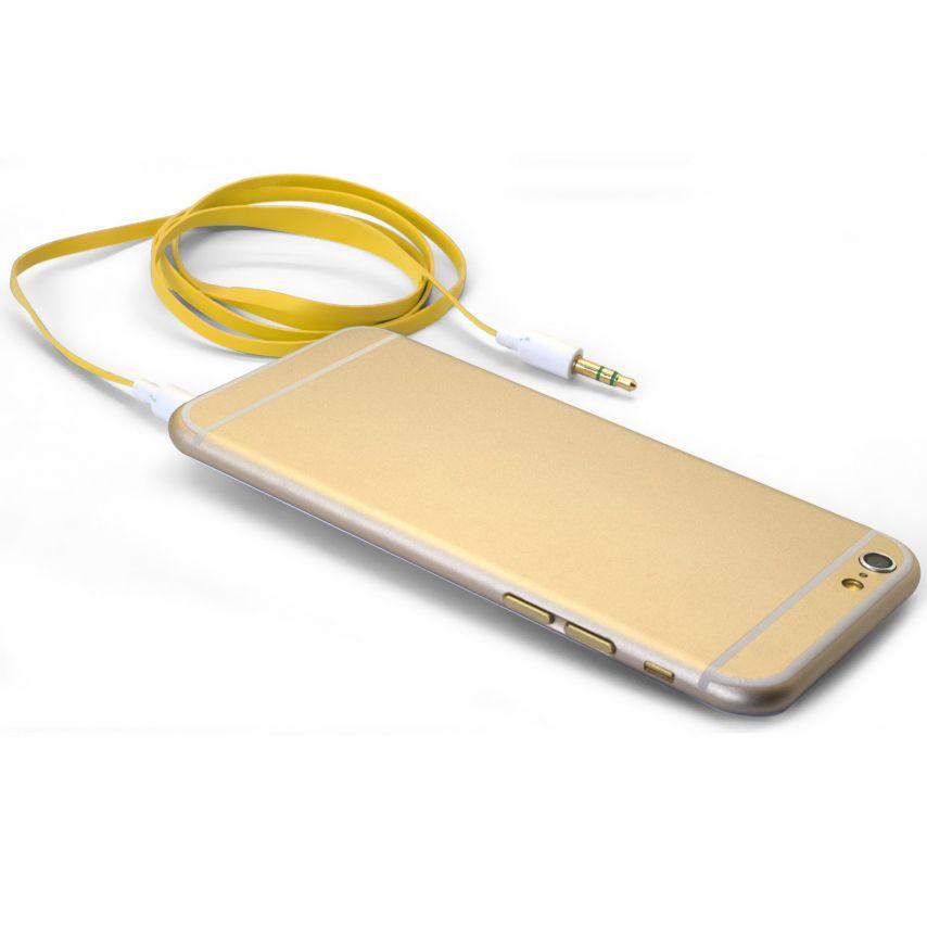 Visuel unique de Câble Audio Plat Jack 3.5 mm Mâle à Mâle - 1M - Jaune