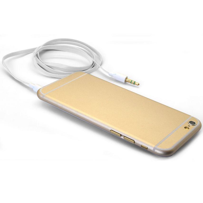Visuel unique de Câble Audio Plat Jack 3.5 mm Mâle à Mâle - 1M - Blanc