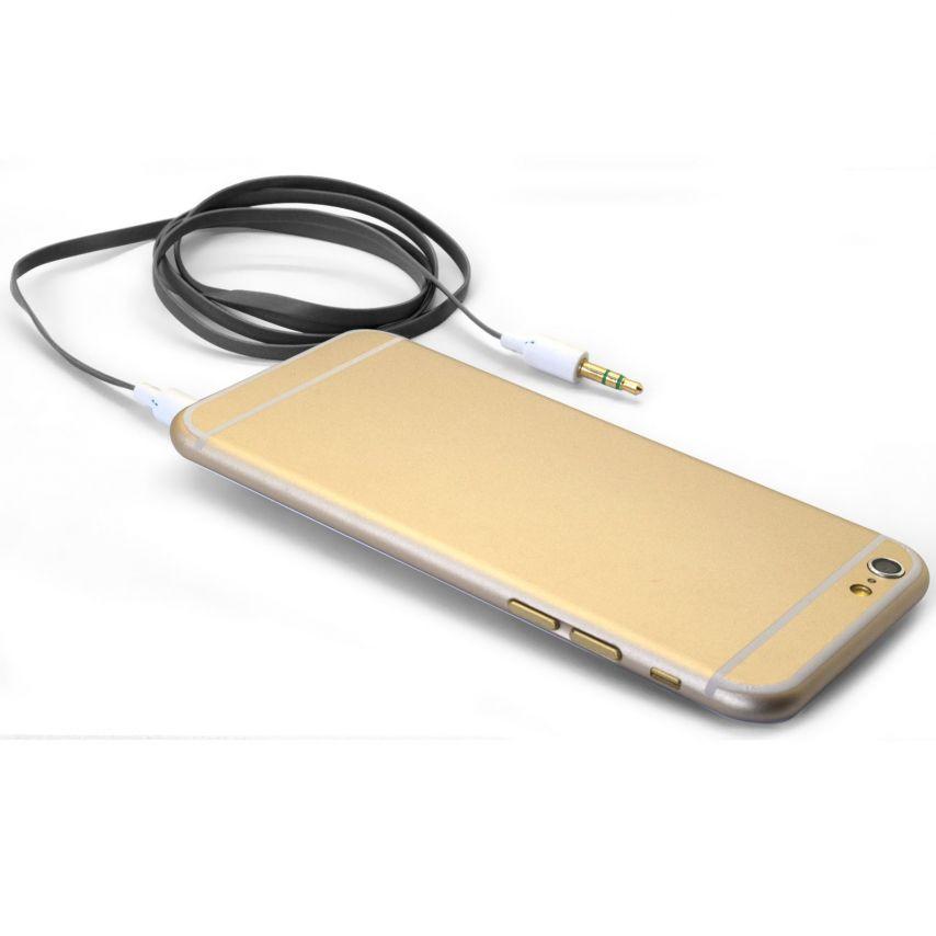 Visuel unique de Câble Audio Plat Jack 3.5 mm Mâle à Mâle - 1M - Noir