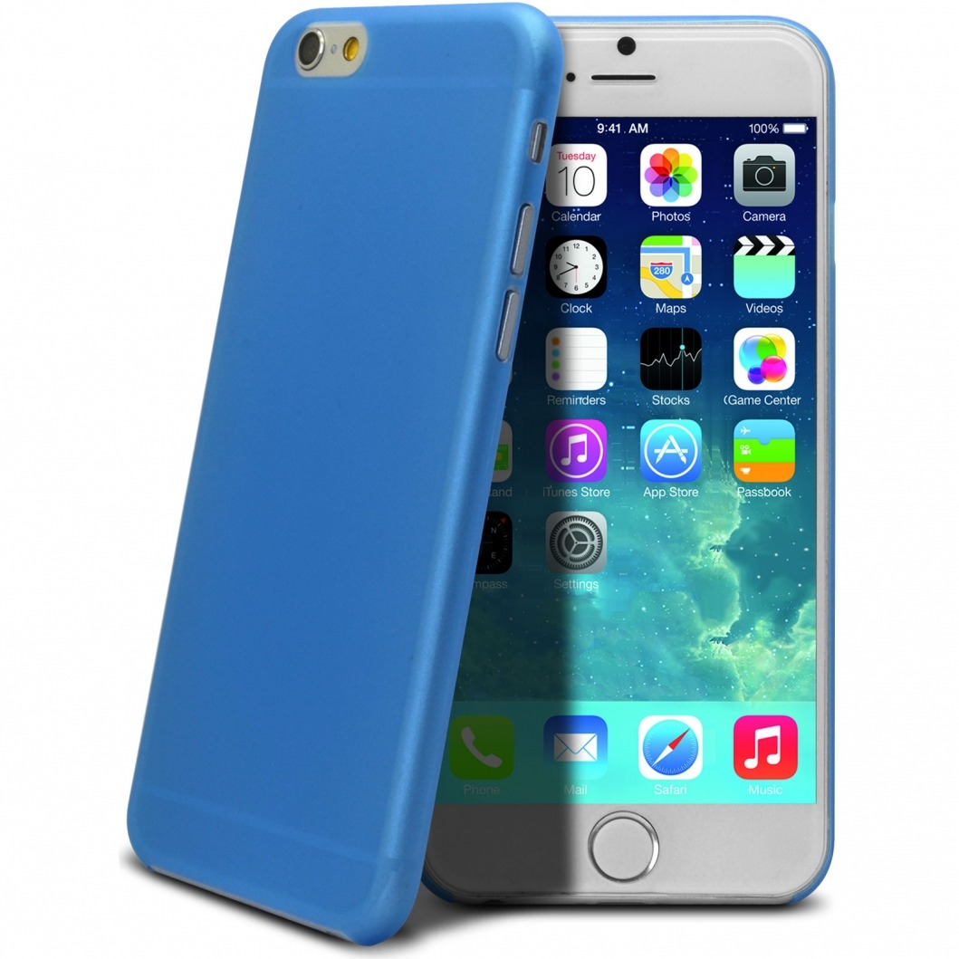 coque ultra fine frost iphone 6 bleue. Black Bedroom Furniture Sets. Home Design Ideas