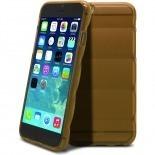 Vue complémentaire de Coque iPhone 6 Gel Air Bump Grip Champagne