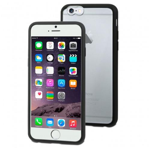 Coque iPhone 6 Plus Muvit® MyFrame Bi-matière Noir - Transparent