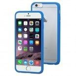 Visuel unique de Coque iPhone 6 Plus Muvit® MyFrame Bi-matière Bleu - Transparent