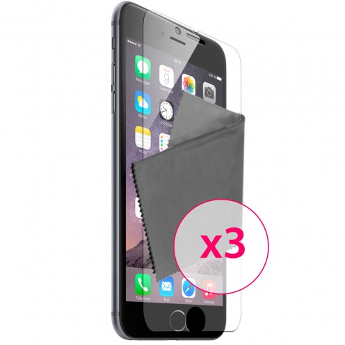 Films de protection iPhone 6 Plus (5,5 pouces) Clubcase ® Clear HD Lot de 3