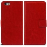 Vue portée de Smart Cover iPhone 6 Cuirette Marbrée Rouge