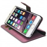 Photo réelle de Smart Cover iPhone 6 Plus Cuirette Marbrée Rose