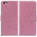 Vue portée de Smart Cover iPhone 6 Plus Cuirette Marbrée Rose