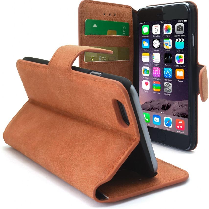 Vue complémentaire de Smart Cover iPhone 6 Peau de pêche Noisette