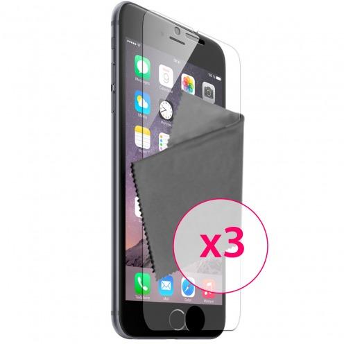 Films de protection anti traces de doigts iPhone 6 / 6s Clubcase ® Lot de 3