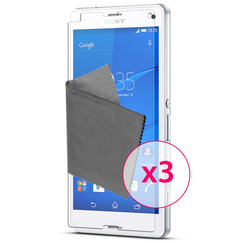 Zoom sur Films de protection Sony XPERIA Z3 Compact Clubcase ® HD Lot de 3