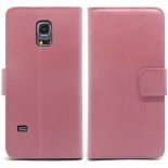 Photo réelle de Housse Folio Stand Galaxy S5 Mini Cuir Eco Executive Rose
