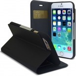 Photo réelle de Smart Dash Folio One X-Doria Noire pour iPhone 6 Plus