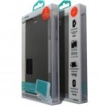 Vue complémentaire de Smart Dash Folio One X-Doria Noire pour iPhone 6 Plus