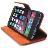 Photo réelle de Smart Cover iPhone 6 Plus Peau de pêche Mandarine